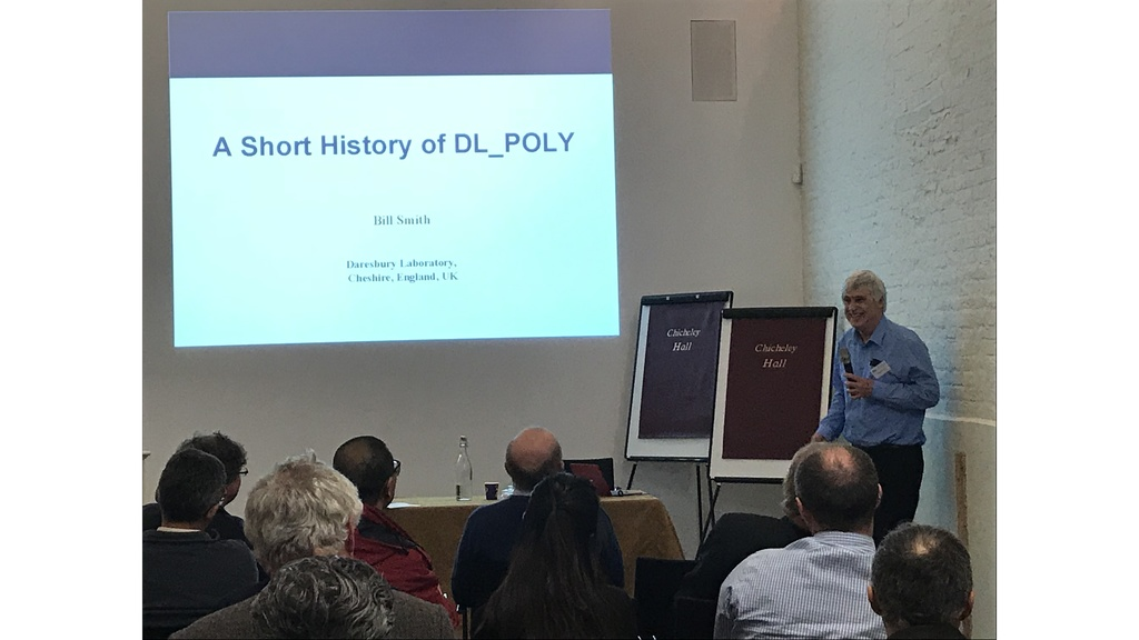 Prof. Bill Smith, the DL_POLY creator
